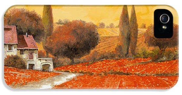 Landscape iPhone 5s Case - fuoco di Toscana by Guido Borelli