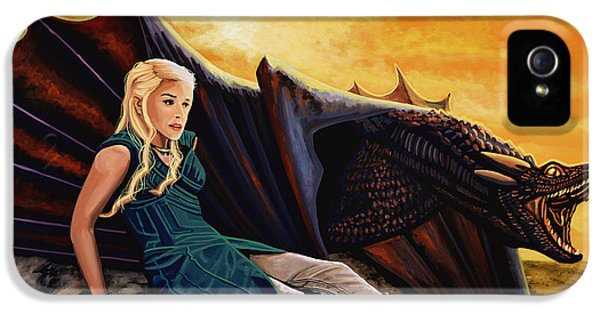 Dragon iPhone 5s Case - Game Of Thrones Painting by Paul Meijering
