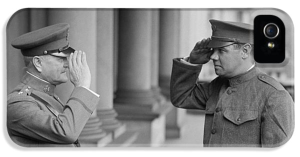 General John Pershing Saluting Babe Ruth IPhone 5s Case by War Is Hell Store
