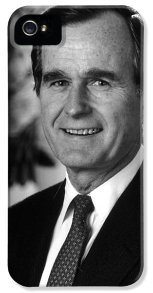 George Bush Sr IPhone 5s Case by War Is Hell Store