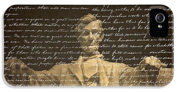 Gettysburg Address IPhone 5s Case by Diane Diederich