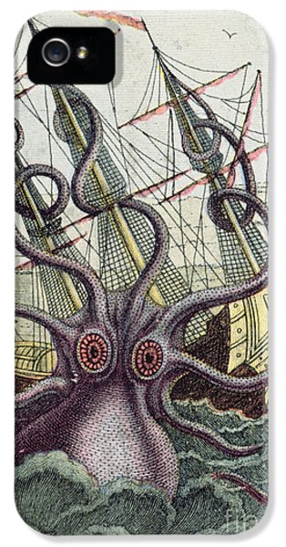 Giant Octopus IPhone 5s Case by Denys Montfort