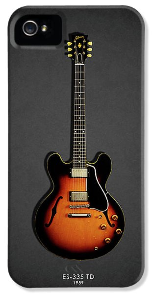Rock And Roll iPhone 5s Case - Gibson Es 335 1959 by Mark Rogan