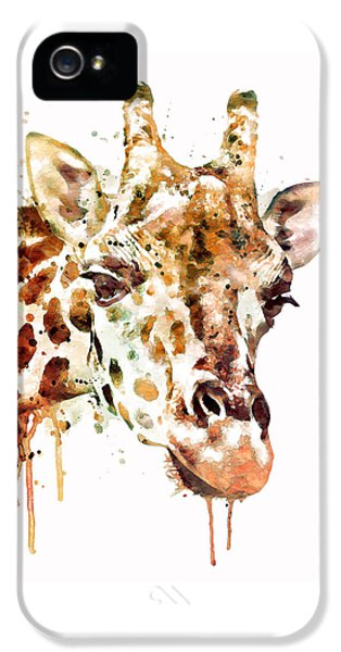 Giraffe Head IPhone 5s Case by Marian Voicu