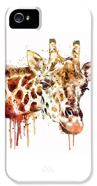 Giraffe Head IPhone 5s Case by Marian Voicu