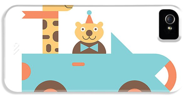 Animal Car Pool IPhone 5s Case by Mitch Frey