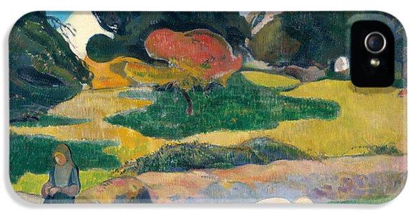 Girl Herding Pigs IPhone 5s Case by Paul Gauguin