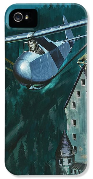 Glider Escape From Colditz Castle IPhone 5s Case by Wilf Hardy