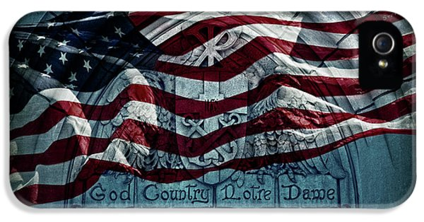 God Country Notre Dame American Flag IPhone 5s Case