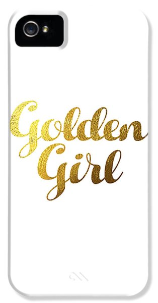 Golden Girl Typography IPhone 5s Case by BONB Creative