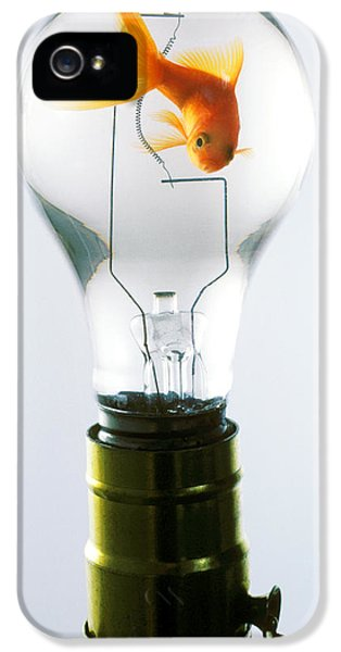 Goldfish In Light Bulb  IPhone 5s Case by Garry Gay
