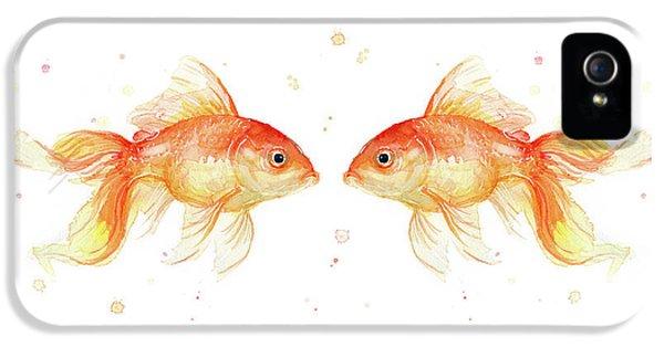 Goldfish Love Watercolor IPhone 5s Case