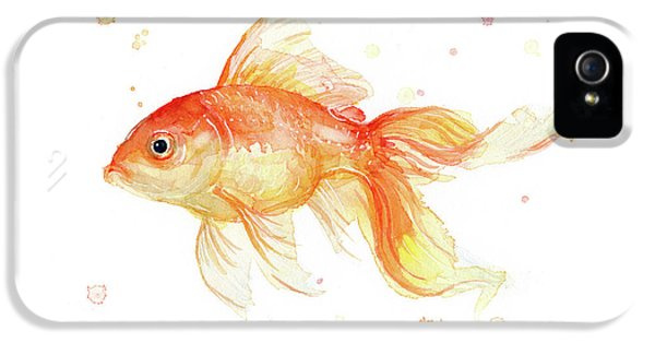 Goldfish Painting Watercolor IPhone 5s Case