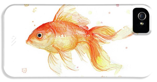 Goldfish Painting Watercolor IPhone 5s Case by Olga Shvartsur