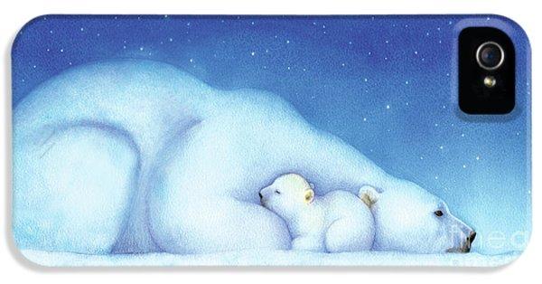 Polar Bear iPhone 5s Case - Arctic Bears, Goodnight Nanook by Tracy Herrmann