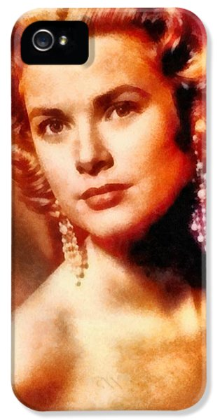 Grace Kelly, Vintage Hollywood Actress IPhone 5s Case by Frank Falcon
