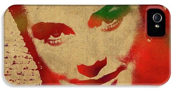 Grace Kelly Watercolor Portrait IPhone 5s Case by Design Turnpike