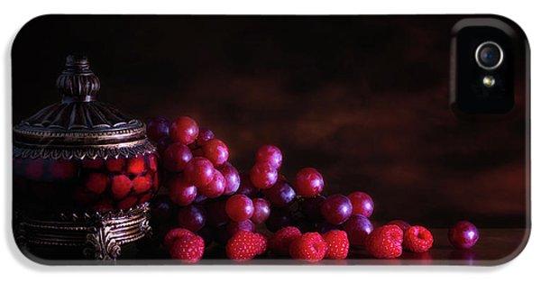 Raspberry iPhone 5s Case - Grape Raspberry by Tom Mc Nemar