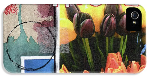 Tulip iPhone 5s Case - Gratitude- Art By Linda Woods by Linda Woods
