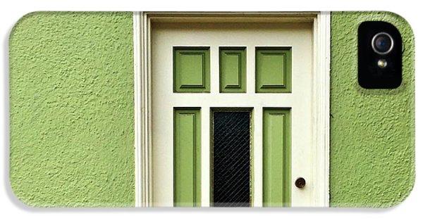 iPhone 5s Case - Green Door Detail by Julie Gebhardt