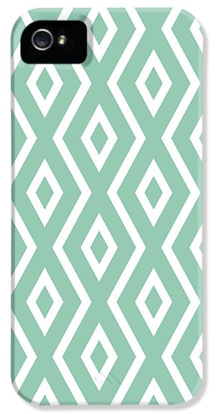 Repeat iPhone 5s Case - Green Pattern by Christina Rollo