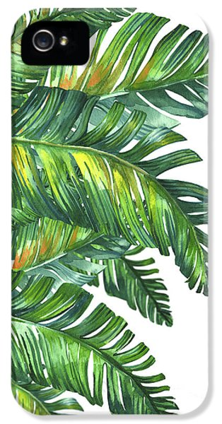 Fantasy iPhone 5s Case - Green Tropic  by Mark Ashkenazi