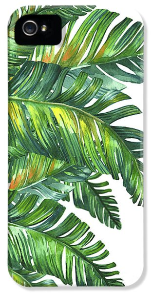 Flowers iPhone 5s Case - Green Tropic  by Mark Ashkenazi