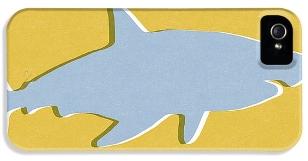 Sharks iPhone 5s Case - Grey And Yellow Shark by Linda Woods