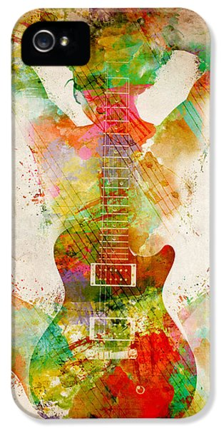 Rock And Roll iPhone 5s Case - Guitar Siren by Nikki Smith