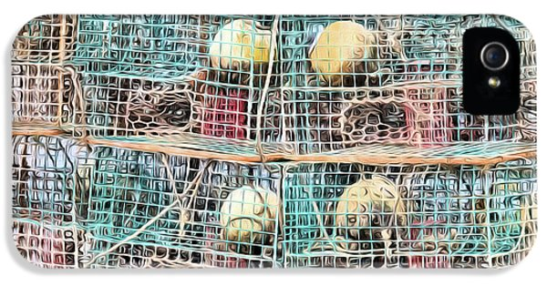 IPhone 5s Case featuring the digital art Gulf Coast Crab Traps by JC Findley