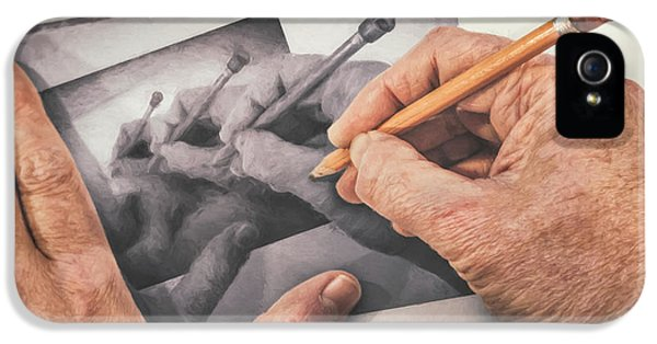 Repeat iPhone 5s Case - Hands Drawing Hands by Scott Norris