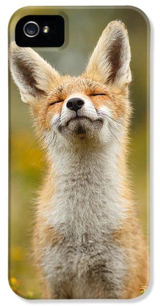 Happy Fox IPhone 5s Case by Roeselien Raimond
