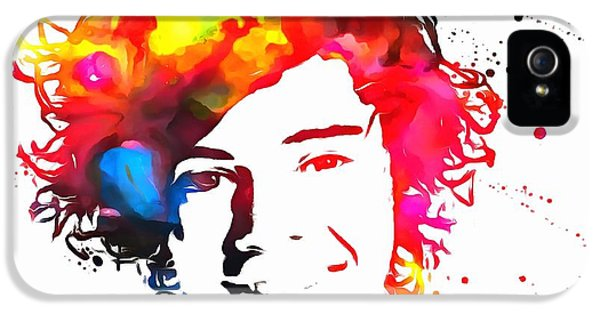 Harry Styles Paint Splatter IPhone 5s Case by Dan Sproul