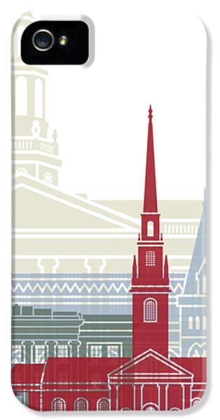 Harvard iPhone 5s Case - Harvard Skyline Poster by Pablo Romero