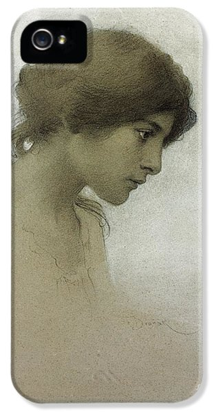 Portraits iPhone 5s Case - Head Of A Girl  by Franz Dvorak