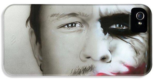 ' Heath Ledger / Joker ' IPhone 5s Case by Christian Chapman Art