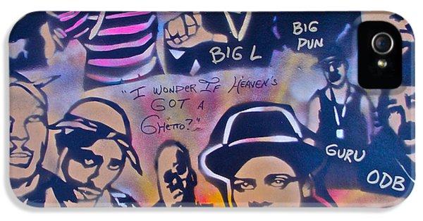 Biggie iPhone 5s Case - Heavens Ghetto by Tony B Conscious