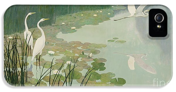 Heron iPhone 5s Case - Herons In Summer by Newell Convers Wyeth