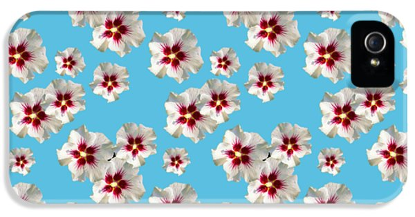 IPhone 5s Case featuring the mixed media Hibiscus Flower Pattern by Christina Rollo