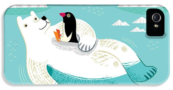 Penguin iPhone 5s Case - Hitching A Ride by Oliver Lake