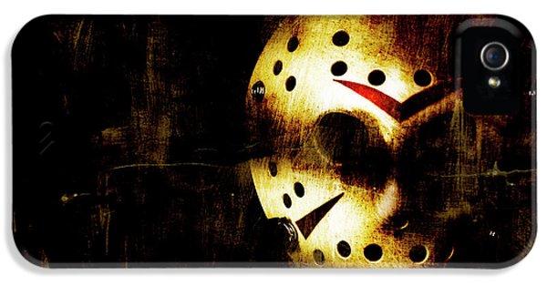 Hockey iPhone 5s Case - Hockey Mask Horror by Jorgo Photography - Wall Art Gallery