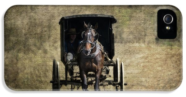 Horse And Buggy IPhone 5s Case by Tom Mc Nemar