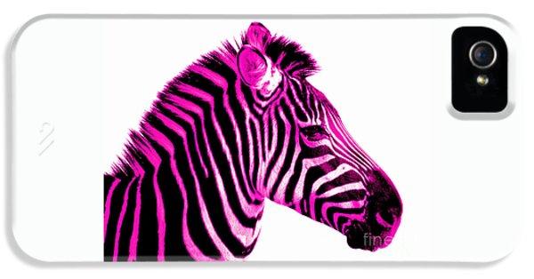 Hot Pink Zebra IPhone 5s Case