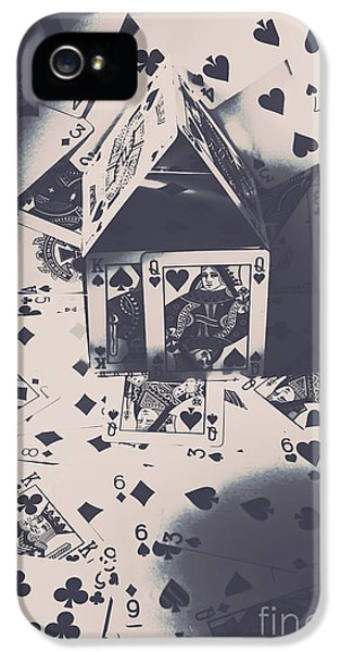 IPhone 5s Case featuring the photograph House Of Cards by Jorgo Photography - Wall Art Gallery