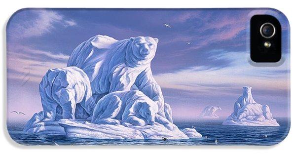 Polar Bear iPhone 5s Case - Icebeargs by Jerry LoFaro