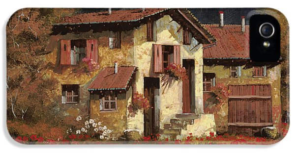 Rural Scenes iPhone 5s Case - In Campagna La Sera by Guido Borelli