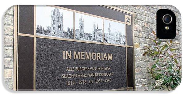 In Memoriam - Ypres IPhone 5s Case