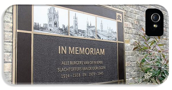 In Memoriam - Ypres IPhone 5s Case by Travel Pics
