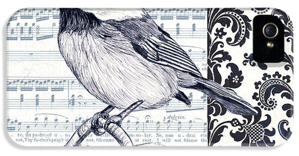 Indigo Vintage Songbird 2 IPhone 5s Case by Debbie DeWitt