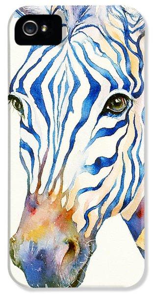 Intense Blue Zebra IPhone 5s Case by Arti Chauhan